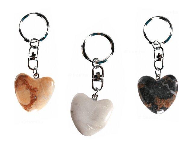 Kľúčenka so srdiečkom z prírodného kameňa bb521fc5a56