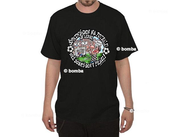 ccfaf520f Čierne tričko Zlý deň na futbale - veľkosť L